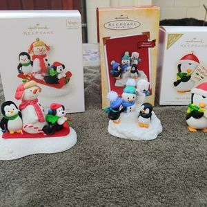 Three Hallmark Keepsake Ornaments
